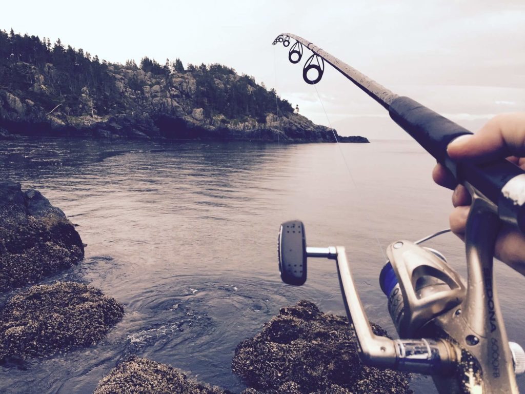 A baitcasting combo for fishing