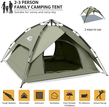 BFULL Pop-Up Camping Tent