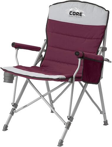 Core Folding Padded Hard Arm Chair