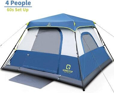 OT QOMOTOP 4-Person Pop-Up Cabin Tent