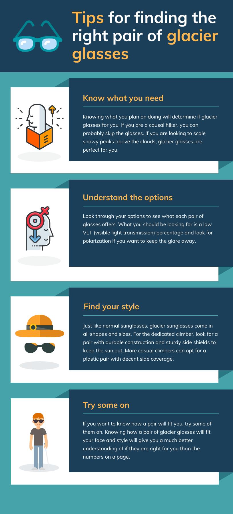 How to choose glacier sunglasses