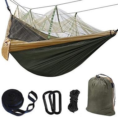 Hammock Camping with Bug Net