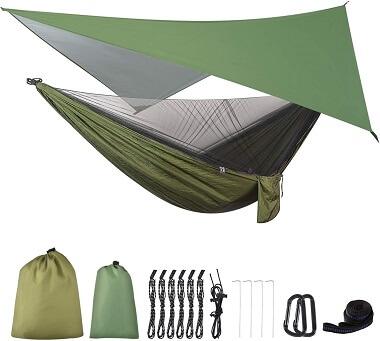 FIRINER Camping Hammock with Mosquito Net
