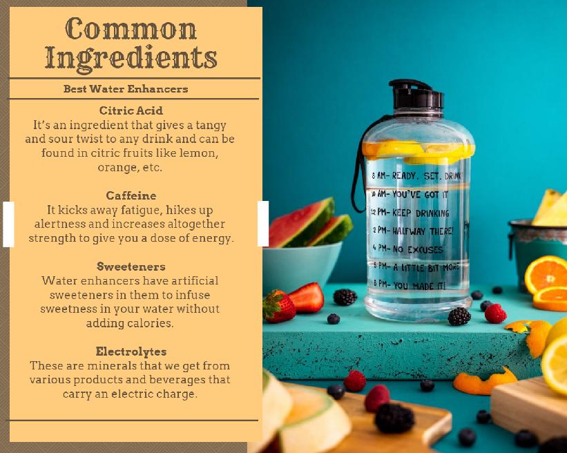 best water enhancers ingredients