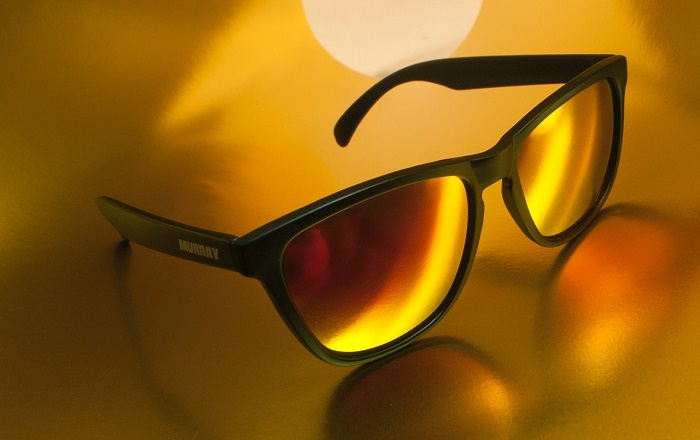 Golden color sunglass